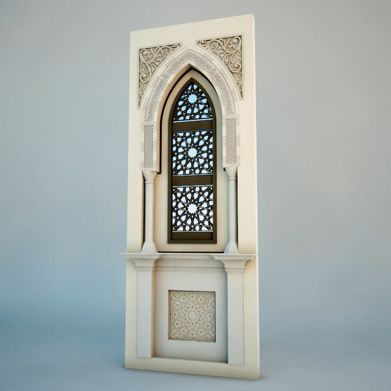 3d islamic arch model for 3d architect free