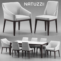 Chair and table Natuzzi minerva, Saturno, Vesta