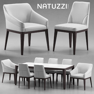 3d model table natuzzi minerva