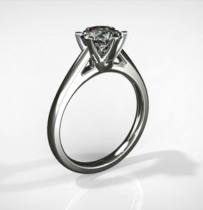 3d model solitairering ring diamond