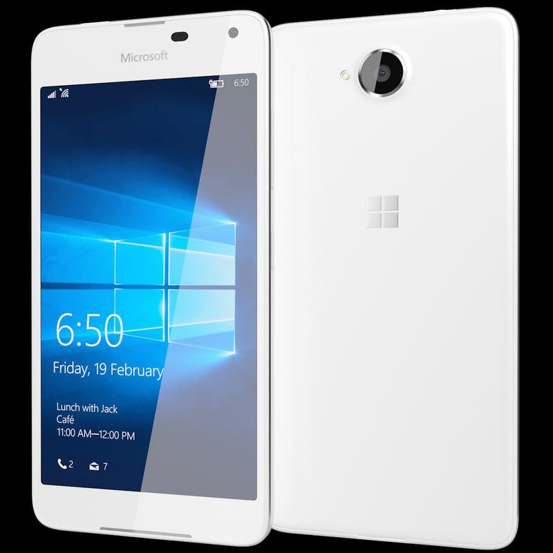 realistic microsoft lumia 650 3d model