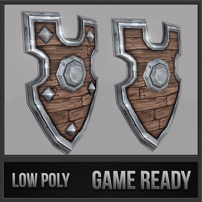 shield 06 medieval fantasy 3d model