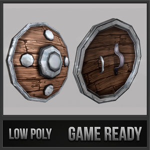 3d shield 04 medieval fantasy
