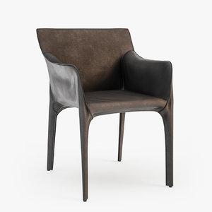 3d walter knoll saddle chair