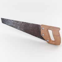 3d model hand saw