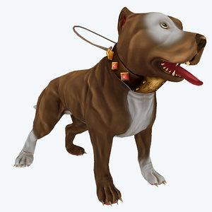 diffuse pitbull dog games 3d obj