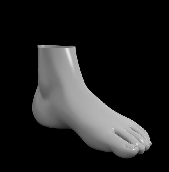 3d female foot basemesh model