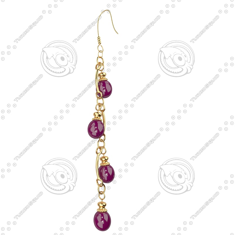 ring earrings 3d model