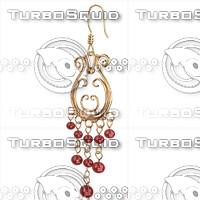 ring earrings 3ds