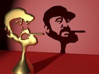3d fidel castro trophy