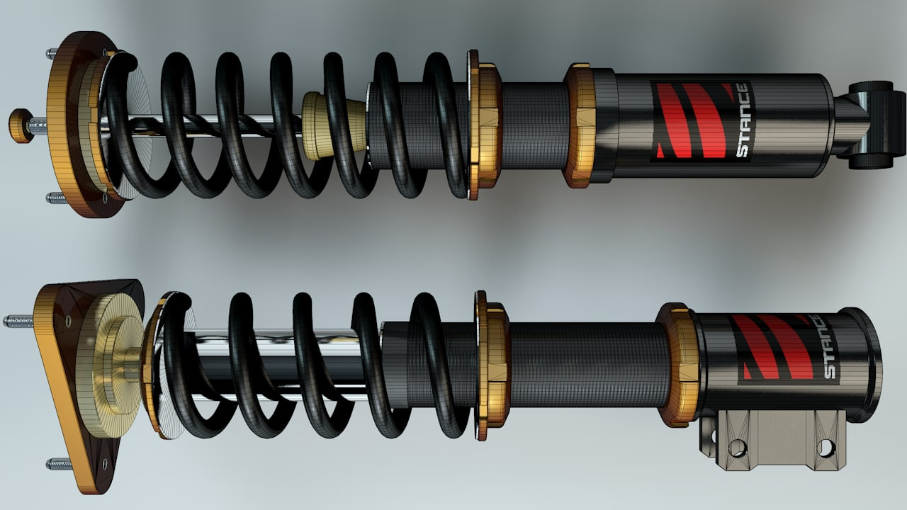 3d coilovers parts springs