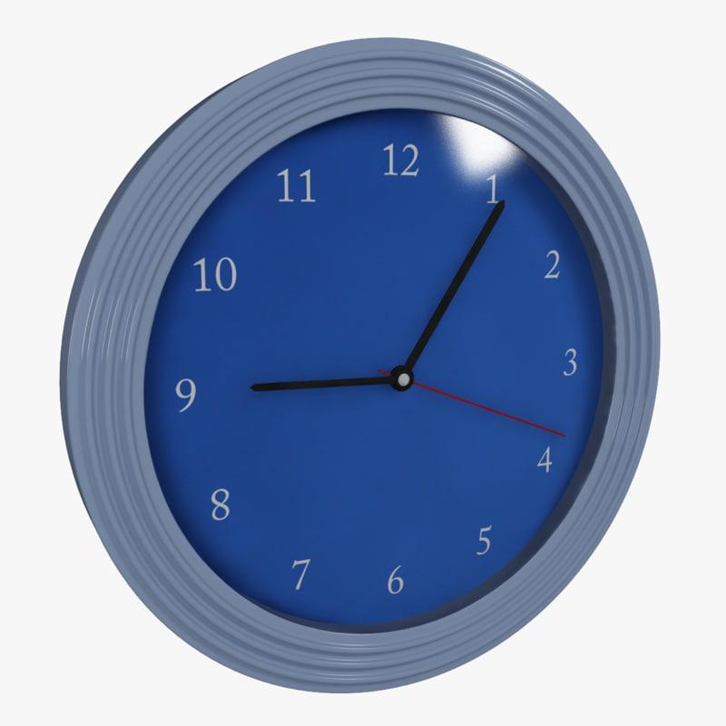 3d model clock 3