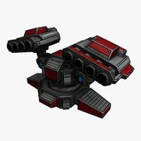 3d rocket launcher sci-fi model
