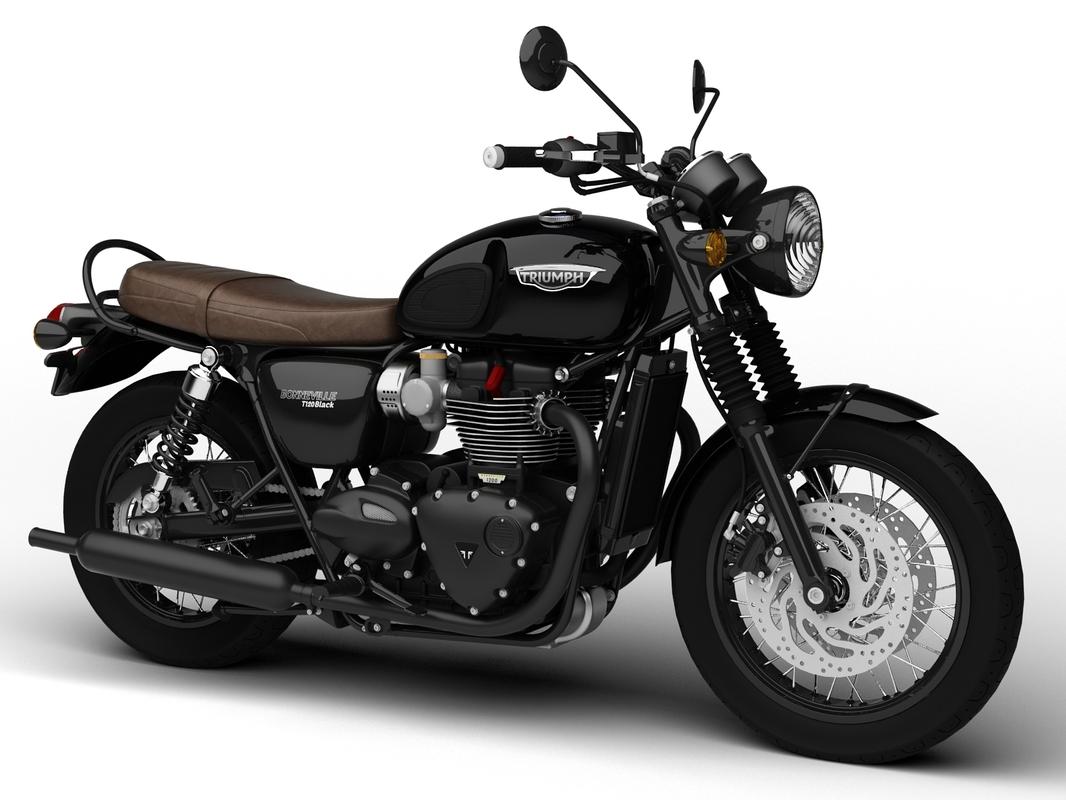 3d model triumph bonneville t120 black