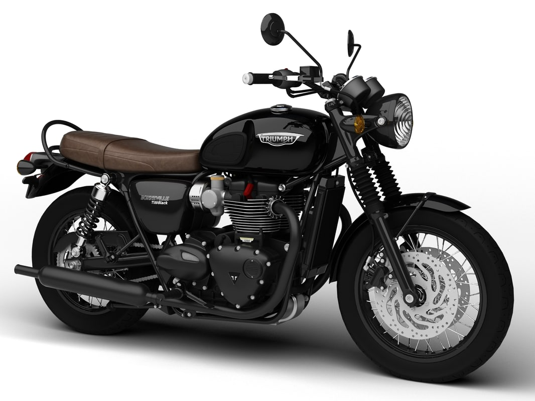 3d model triumph bonneville t120 black. Black Bedroom Furniture Sets. Home Design Ideas