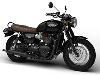 3d model triumph bonneville t120 black