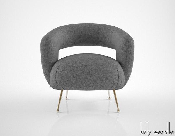kelly wearstler laurel lounge chair 3d max