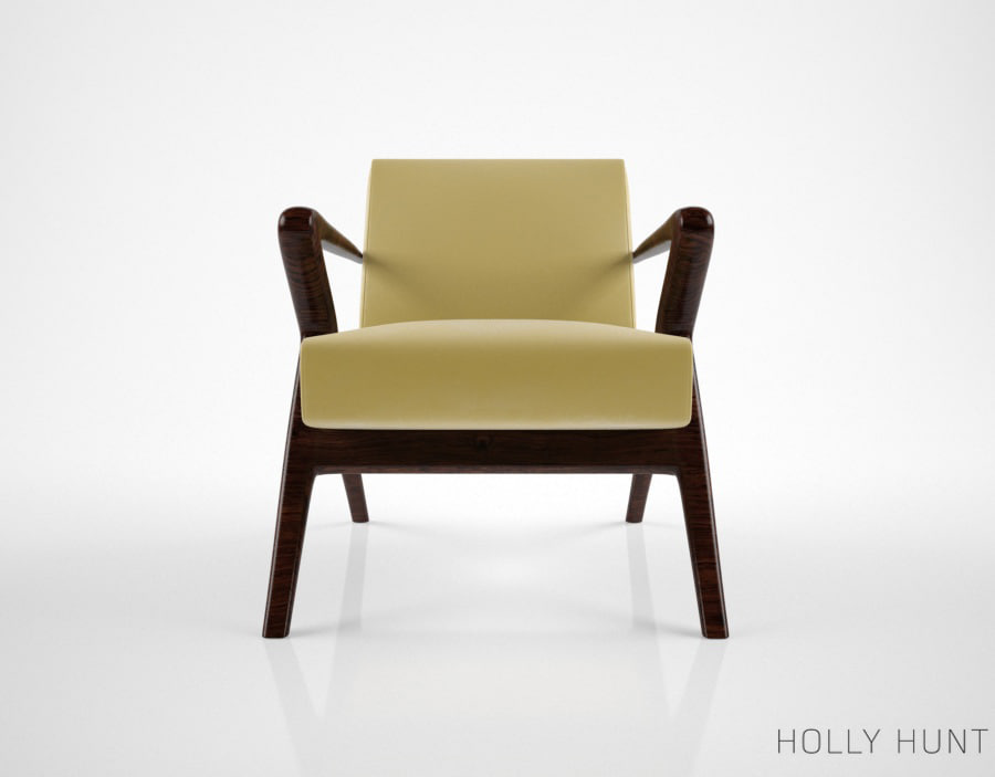 3d model holly hunt capri lounge chair