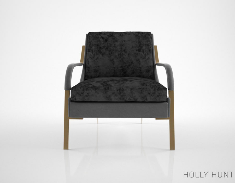 3d holly hunt harlow lounge chair