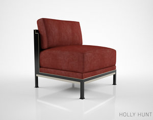 holly hunt tweed lounge chair 3d model
