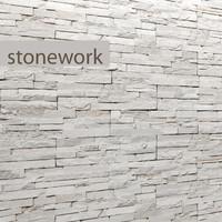 Stone slate white 3D