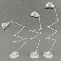 jielde loft twin floor lamp 3d model