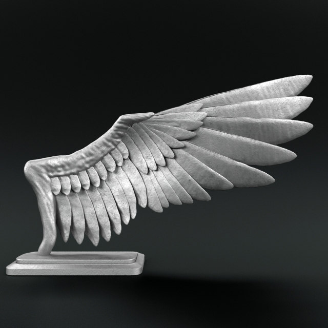 sculpture bird wings 3d model