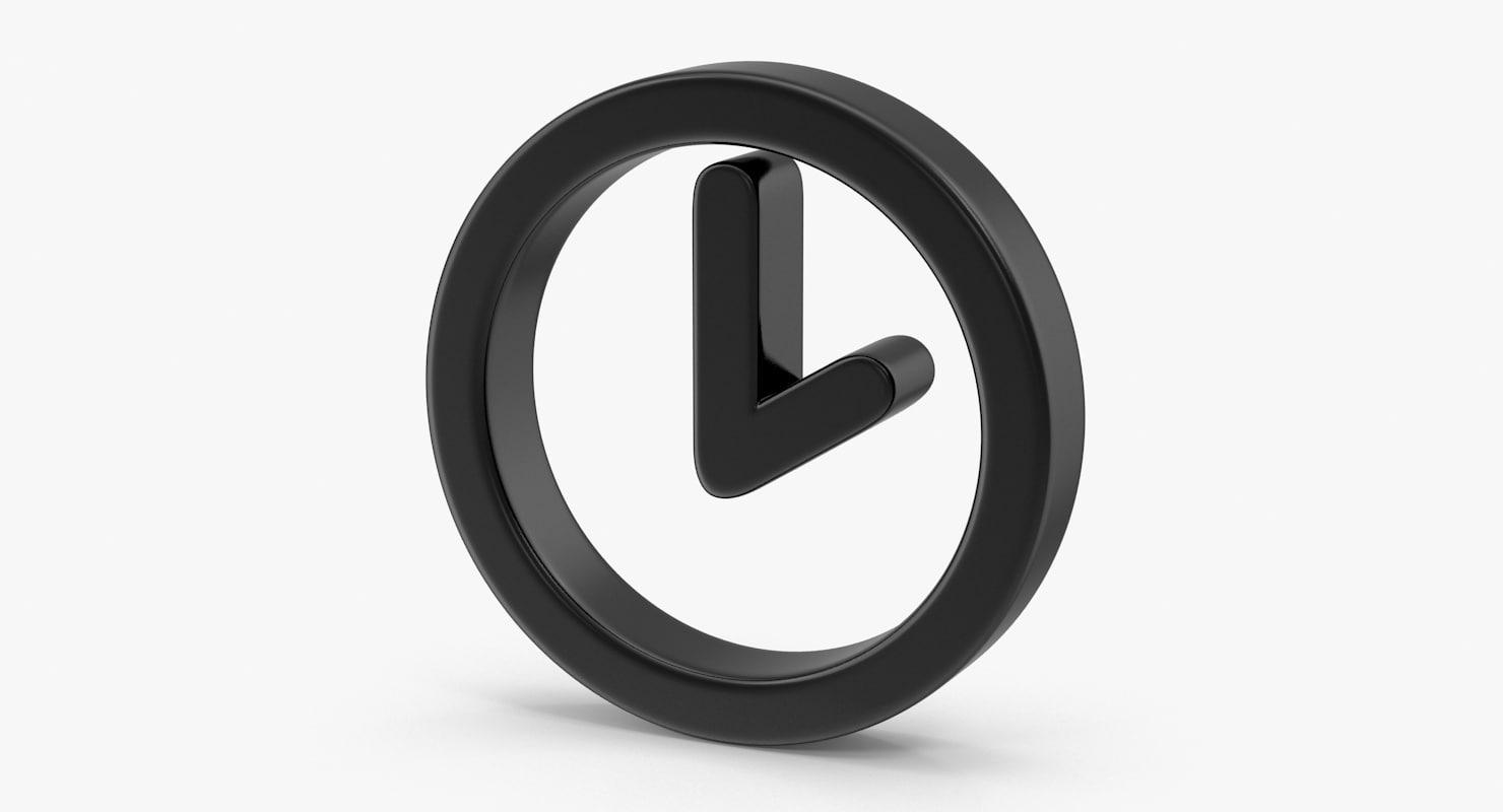 3d clock symbol model