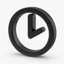 clock symbol 3D models