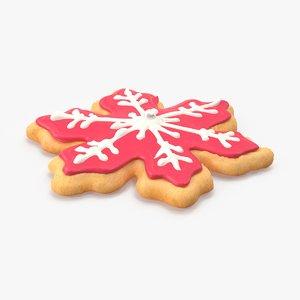 3d model snowflake cookie