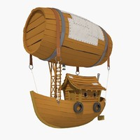 3d model cartoon airship