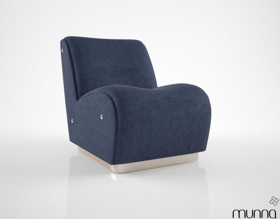 3d munna newton armchair model