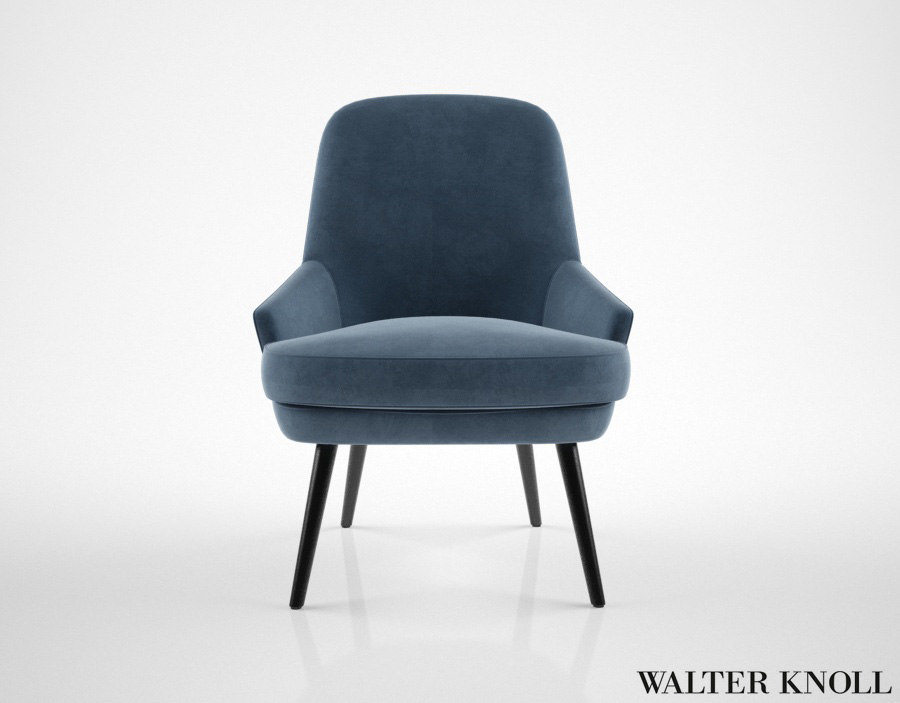 3d walter knoll 375 chair model