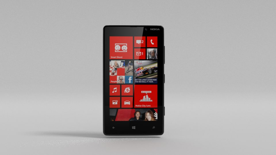 3d model nokia lumia 820 phone
