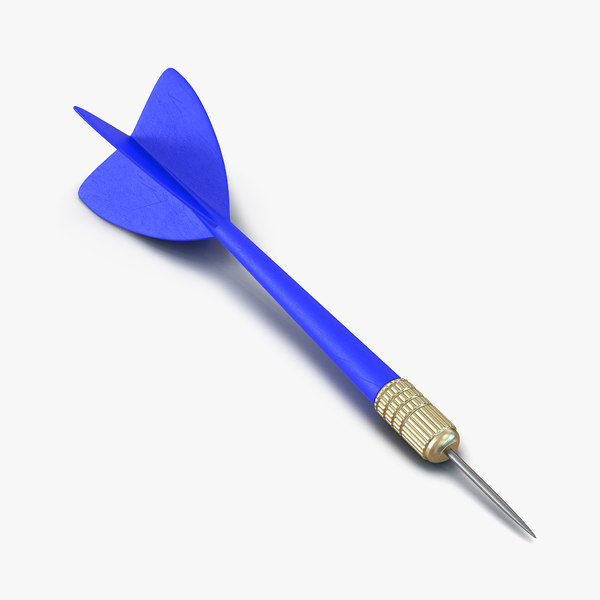 3d model dart needle 3 blue