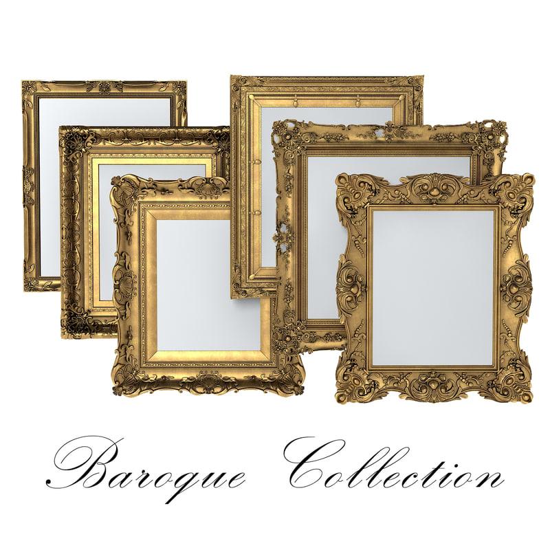 obj baroque picture frame
