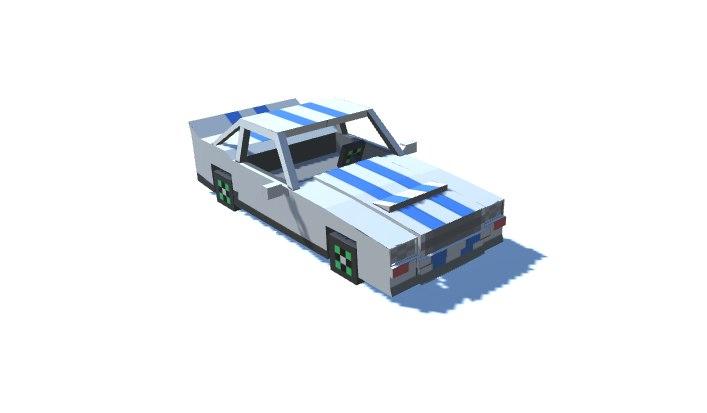minecraft sport car 3d model