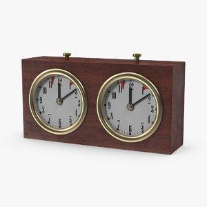 chess clock 3d max