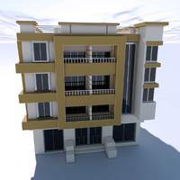 3ds modern building