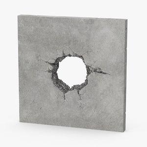 structural impact concrete 3d max