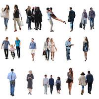 15 Hi-Res Casual Cutout People