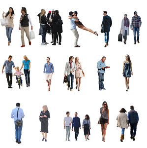 15 Hi-Res Casual Cutout People