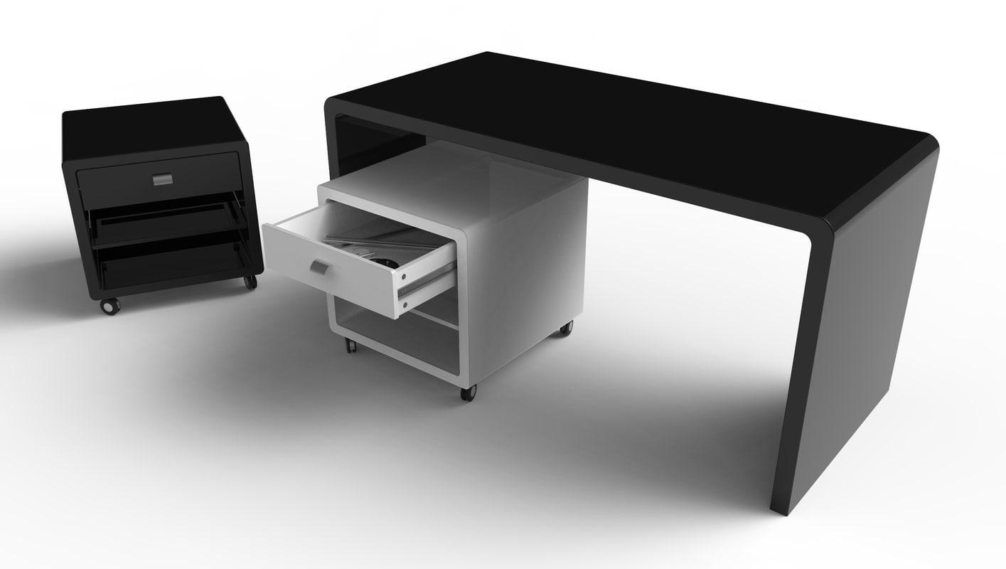 3d sketchup office desk