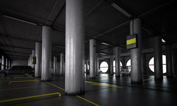 parking garage car 3d model