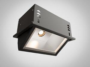 3d model light industrial