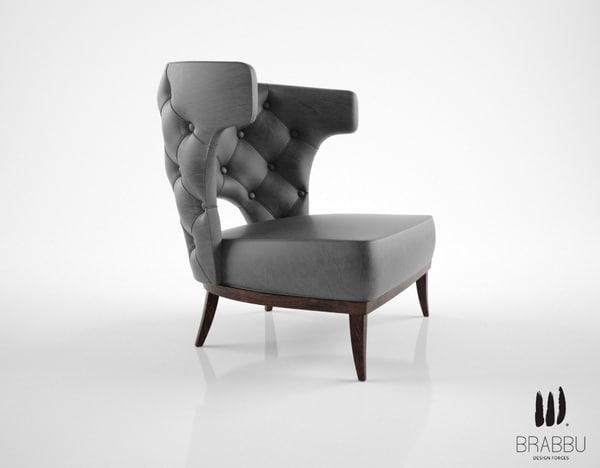 3d brabbu armchair model