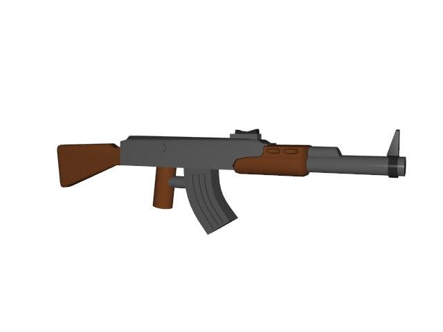 ak47 lego 3d model