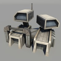 Low poly barracks