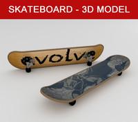 3d skateboard -