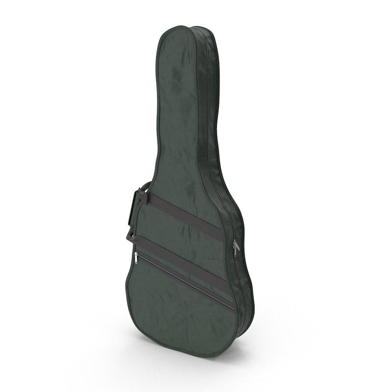 3d guitar case model